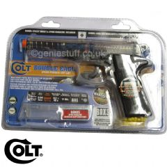 Clear Airsoft Colt Double Eagle with Gel Target